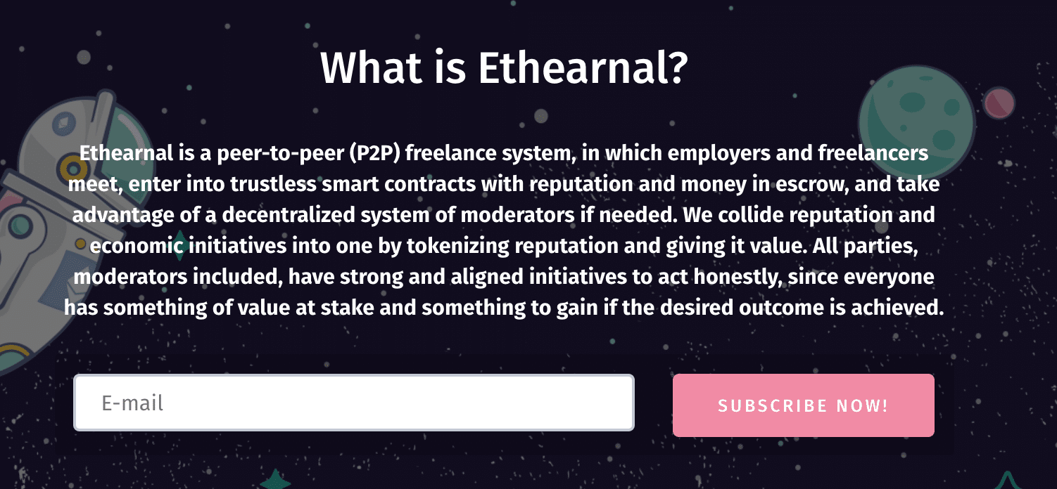 Ethearnal's homepage